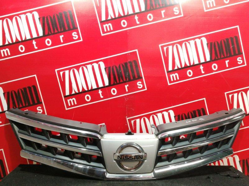 Решетка радиатора Nissan Tiida C11 HR15DE 2007 хром