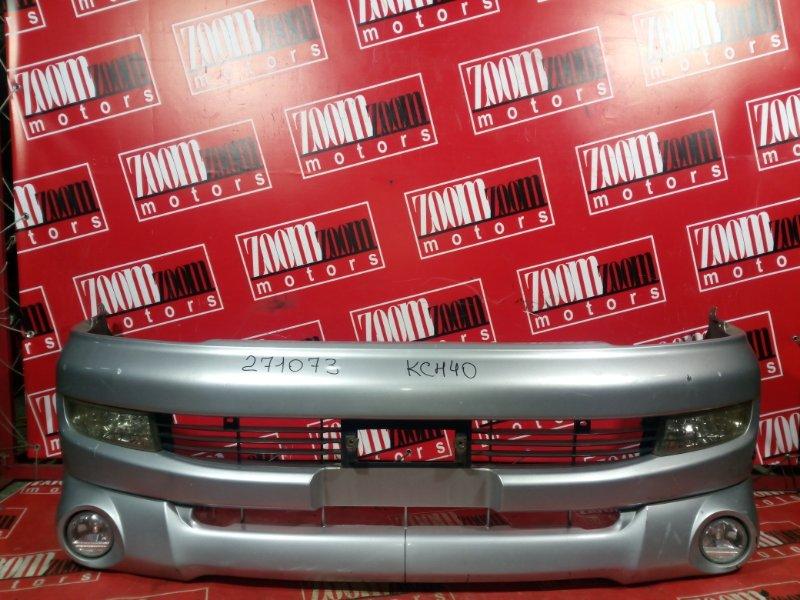 Бампер Toyota Hiace Regius KCH40 1KZ-TE 1997 передний серебро
