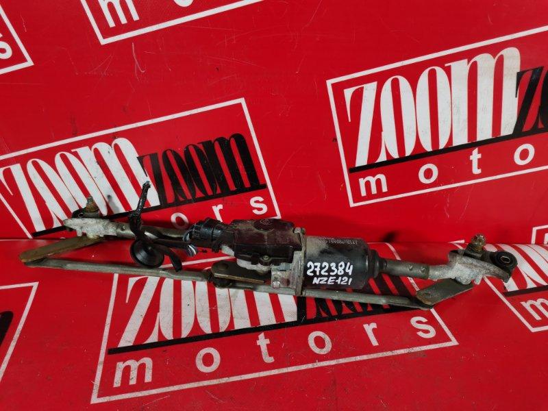 Привод (мотор) стеклоочистителей Toyota Corolla NZE121 1NZ-FE `2001 передний