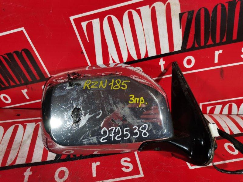 Зеркало боковое Toyota Hilux Surf RZN185 3ZR-FAE 1995 переднее правое хром