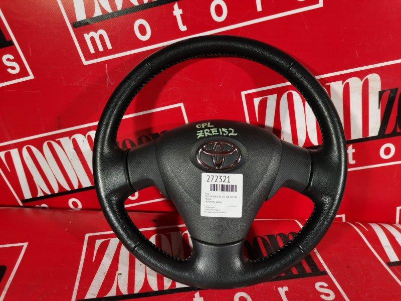 Руль Toyota Auris ZRE152 2ZR-FAE 2006 черный