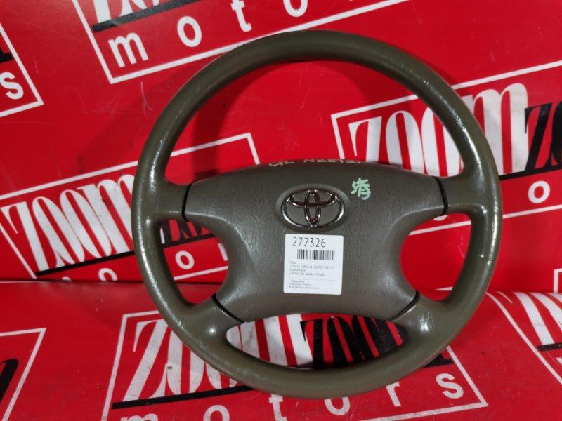 Руль Toyota Corolla Fielder NZE121 1NZ-FE `2001 коричневый