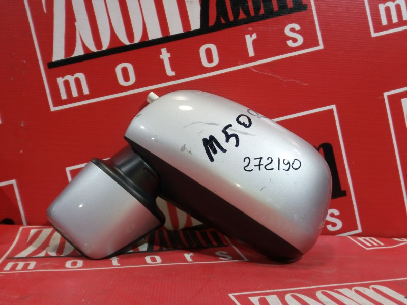 Зеркало боковое Toyota Passo Sette M502G 3SZ-VE 2008 переднее левое серебро