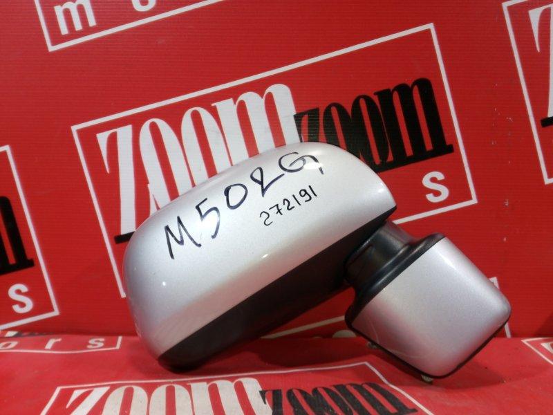Зеркало боковое Toyota Passo Sette M502G 3SZ-VE 2008 переднее правое серебро