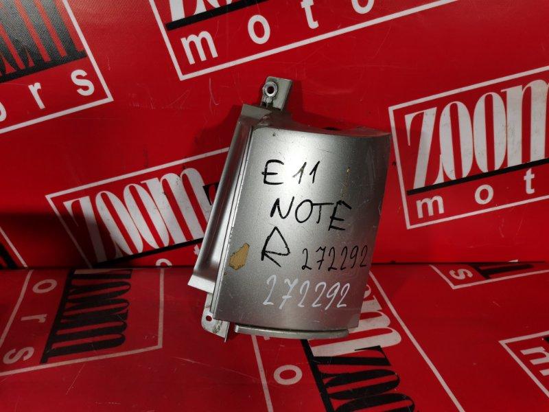 Планка под фонарь Nissan Note E11 HR15DE 2004 задняя правая серебро