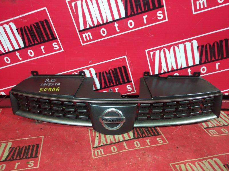 Решетка радиатора Nissan Lafesta B30 2004 передняя черный