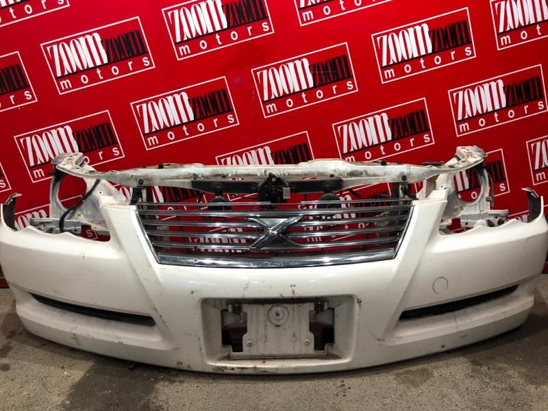 Бампер Toyota Mark X GRX120 4GR-FSE 2004 передний белый перламутр