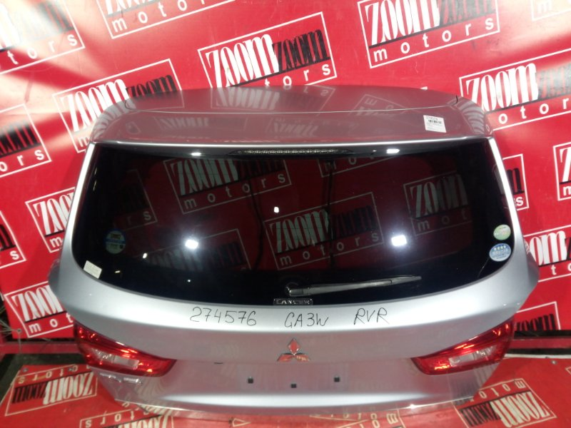 Дверь задняя багажника Mitsubishi Asx GA3W 4B10 2010 задняя серебро