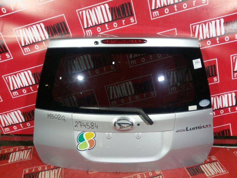 Дверь задняя багажника Daihatsu Boon Luminas M502G 3SZ-VE 2008 задняя серебро
