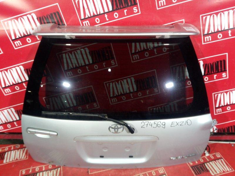 Дверь задняя багажника Toyota Raum EXZ10 5E-FE 1998 задняя серебро