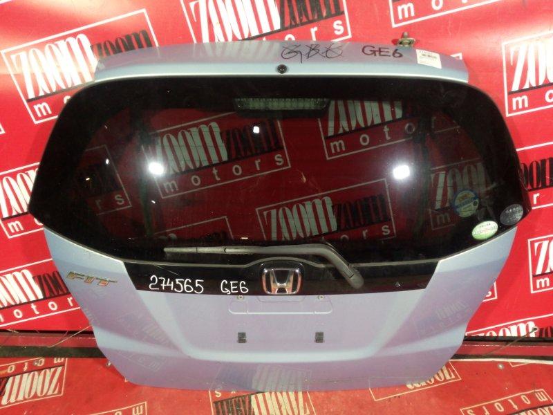 Дверь задняя багажника Honda Fit GE6 L15A 2007 задняя голубой
