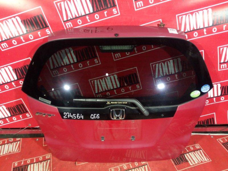Дверь задняя багажника Honda Fit GE6 L15A 2007 задняя красный