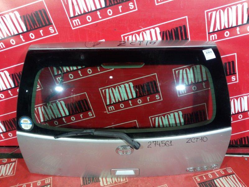 Дверь задняя багажника Toyota Opa ZCT10 1ZZ-FE 2000 задняя серебро