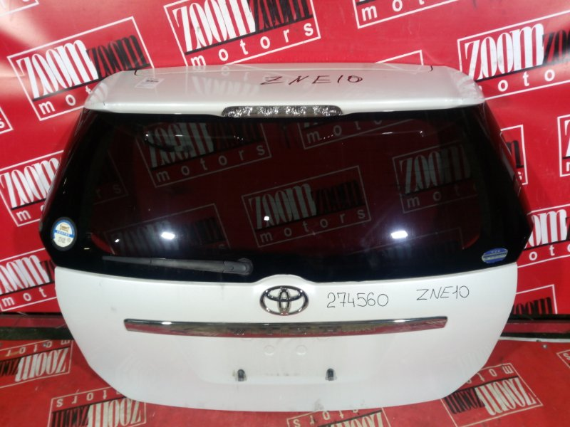 Дверь задняя багажника Toyota Wish ZNE10 1ZZ-FE 2001 задняя белый перламутр