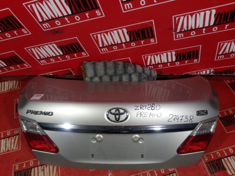 Крышка багажника Toyota Premio ZRT261 3ZR-FAE 2007 задняя серебро