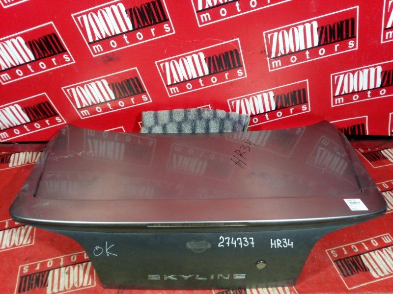 Крышка багажника Nissan Skyline HR34 RB20DE 1998 задняя серый