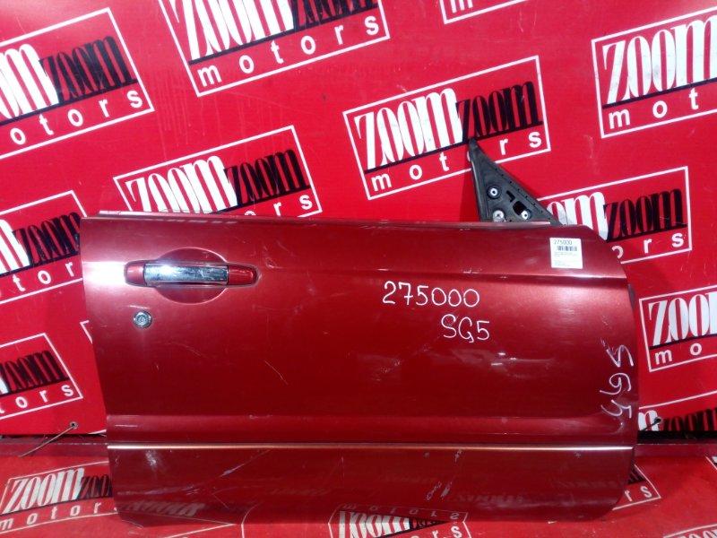 Дверь боковая Subaru Forester SG5 EJ20 2002 передняя правая красный