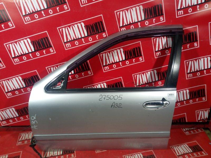 Дверь боковая Nissan Cefiro A32 VQ20DE 1994 передняя левая серебро