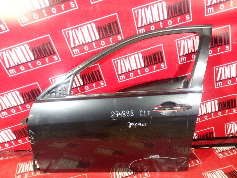 Дверь боковая Honda Accord CL7 K20A 2002 передняя левая темно-серый