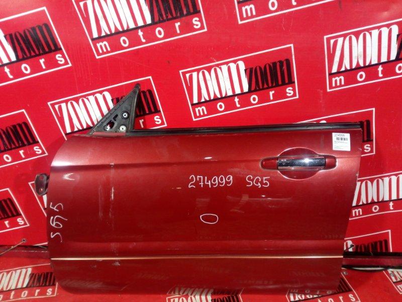 Дверь боковая Subaru Forester SG5 EJ20 2002 передняя левая красный