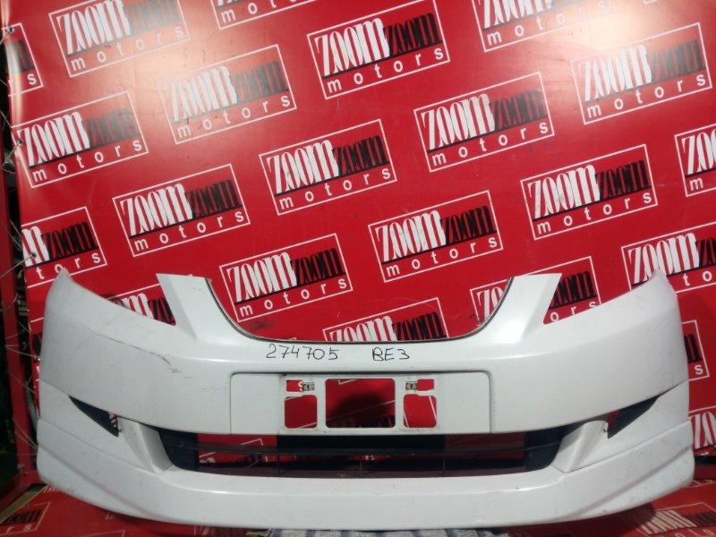 Бампер Honda Edix BE3 K20A 2004 передний белый перламутр