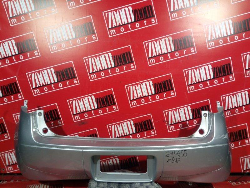 Бампер Mitsubishi Colt Z25A 4A91 2002 задний серебро