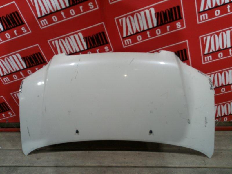 Капот Suzuki Wagon R Solio MA34S M13A 2000 передний белый перламутр
