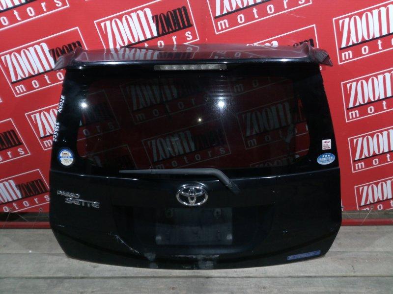Дверь задняя багажника Toyota Passo Sette M502E 3SZ-VE 2008 задняя черный