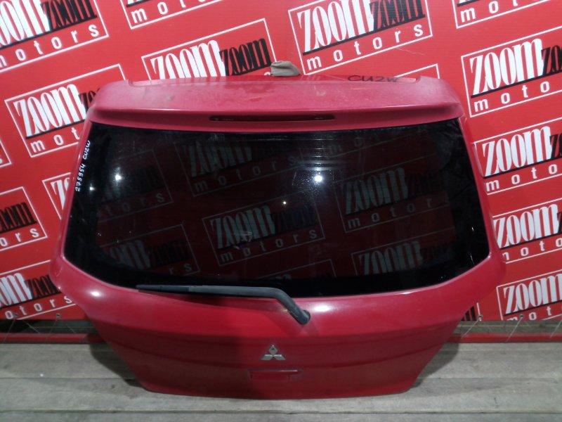 Дверь задняя багажника Mitsubishi Airtrek CU2W 4G63 2001 задняя красный