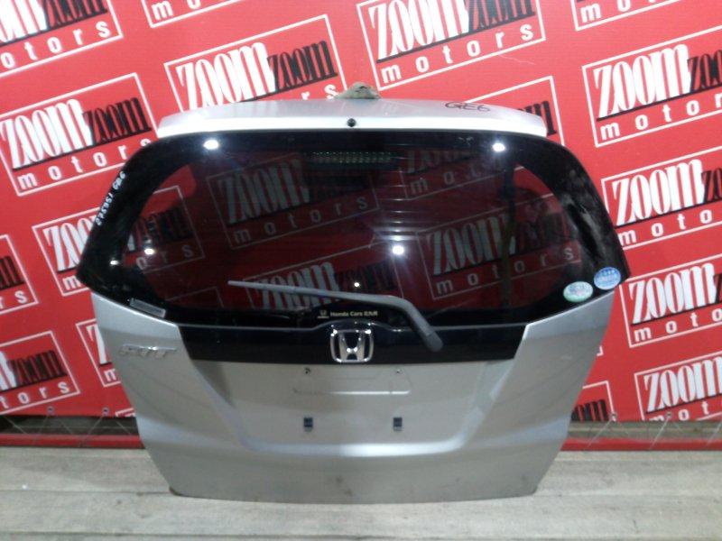 Дверь задняя багажника Honda Fit GE6 L13A 2007 задняя серебро