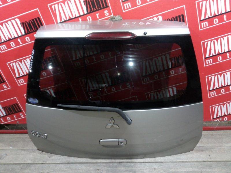 Дверь задняя багажника Mitsubishi Colt Z25A 4A91 2002 задняя серебро