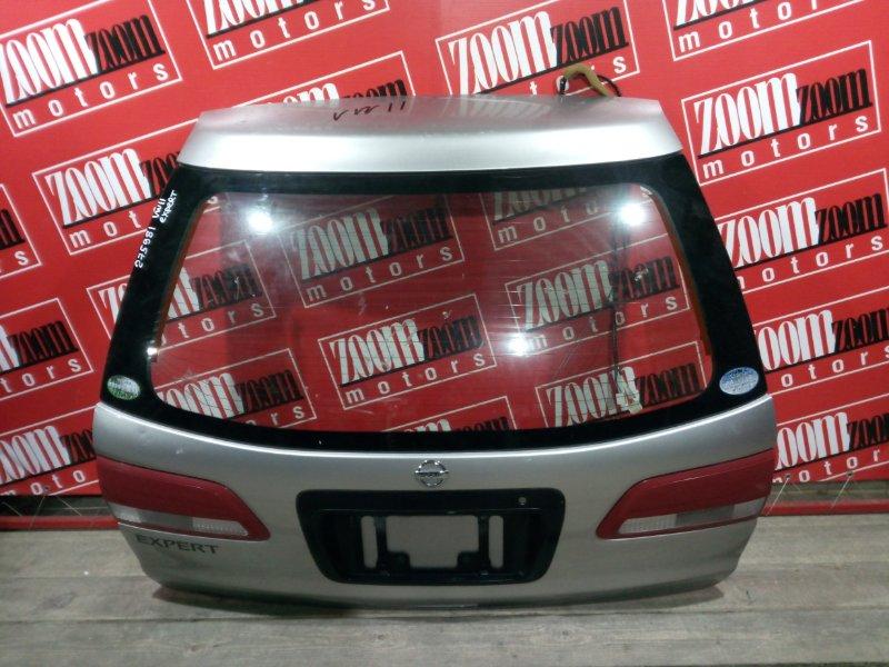 Дверь задняя багажника Nissan Expert VW11 QG18DE 1999 задняя серебро