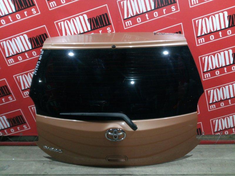 Дверь задняя багажника Toyota Passo KGC30 1KR-FE 2010 задняя оранжевый