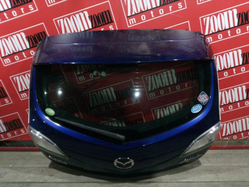 Дверь задняя багажника Mazda Axela BLEFW LF-VE 2009 задняя синий