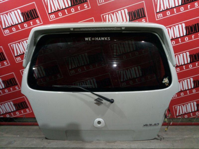 Дверь задняя багажника Suzuki Wagon R Solio MA34S K6A 2003 задняя белый перламутр