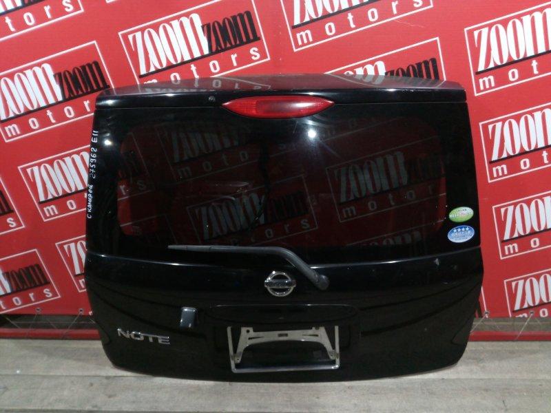 Дверь задняя багажника Nissan Note E11 HR15DE 2004 задняя черный