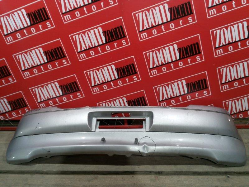 Бампер Toyota Vitz Clavia SCP10 1SZ-FE 1999 задний серебро