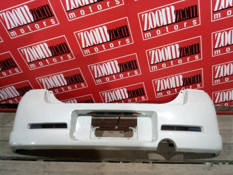 Бампер Suzuki Wagon R Solio MA34S K6A 2000 задний белый перламутр
