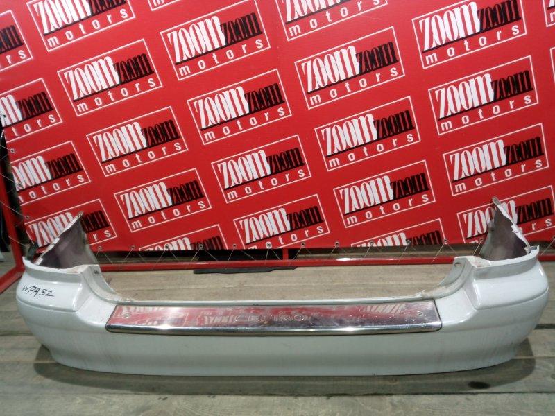 Бампер Nissan Cefiro WPA32 VQ25DE 1997 задний белый перламутр