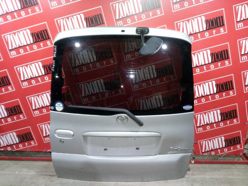 Дверь задняя багажника Toyota Funcargo NCP20 1NZ-FE 1999 задняя серебро