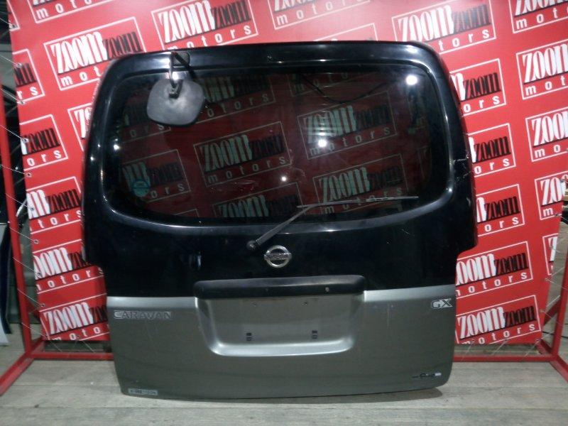 Дверь задняя багажника Nissan Caravan VPE25 KA20DE 2001 задняя черный