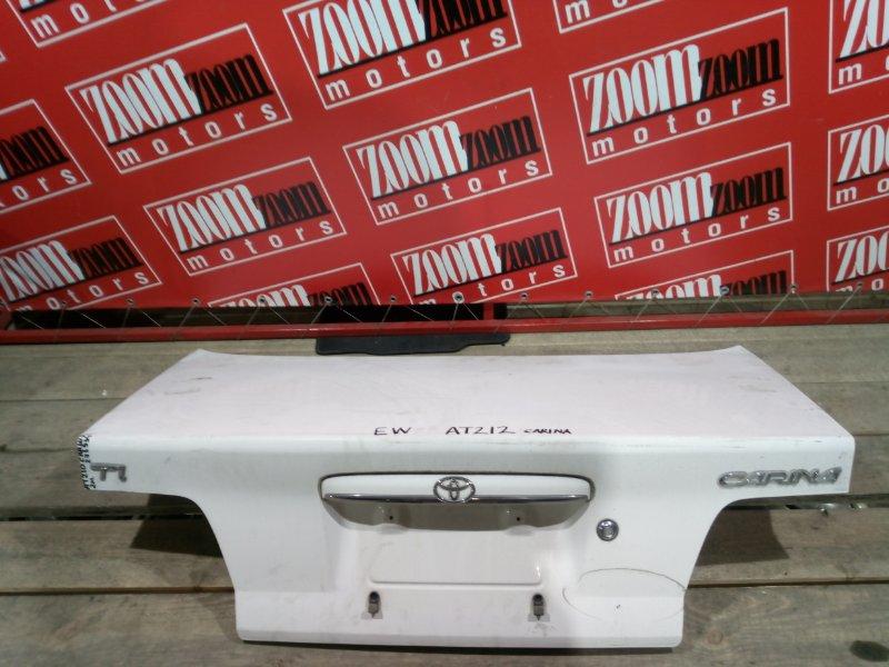 Крышка багажника Toyota Carina AT210 4A-FE 2001 задняя белый