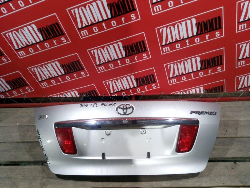 Крышка багажника Toyota Premio AZT240 1AZ-FSE `2001 задняя серебро