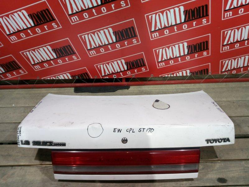 Крышка багажника Toyota Corona ST170 4S-FE 1988 задняя белый