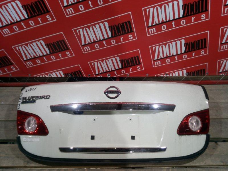 Крышка багажника Nissan Bluebird Sylphy KG11 MR20DE 2005 задняя белый перламутр