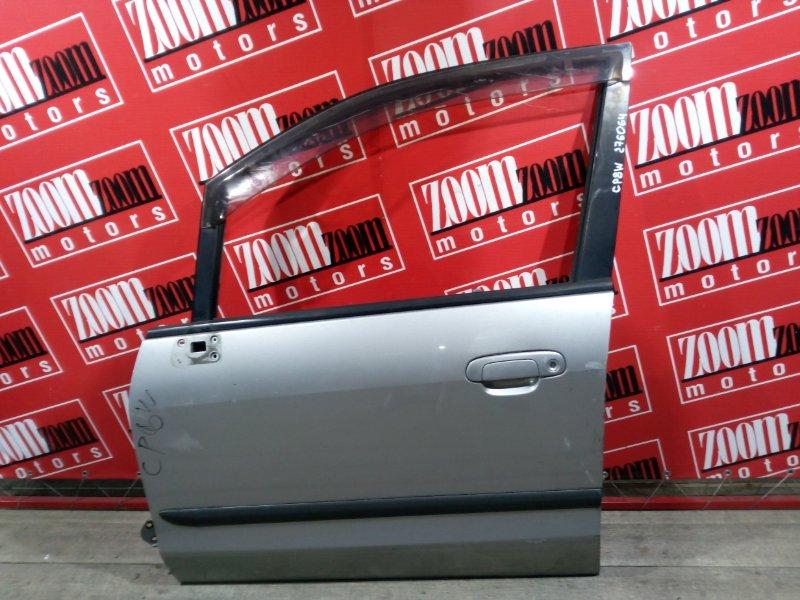 Дверь боковая Mazda Premacy CP8W FP-DE 1998 передняя левая серебро
