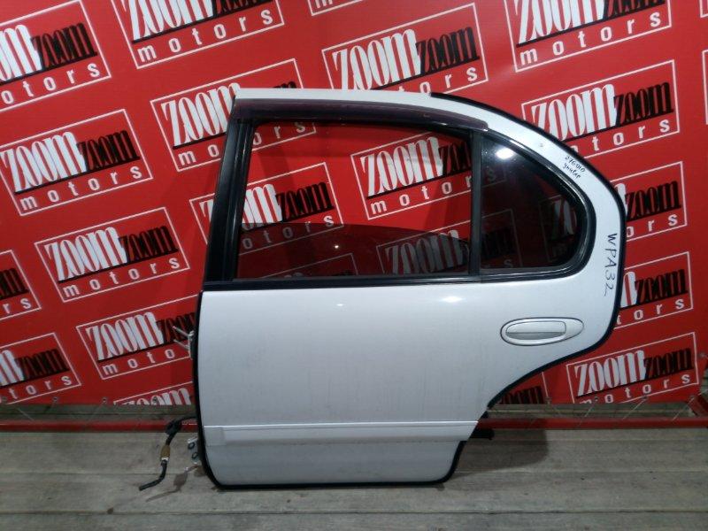 Дверь боковая Nissan Cefiro WPA32 VQ25DE 1997 задняя левая белый перламутр