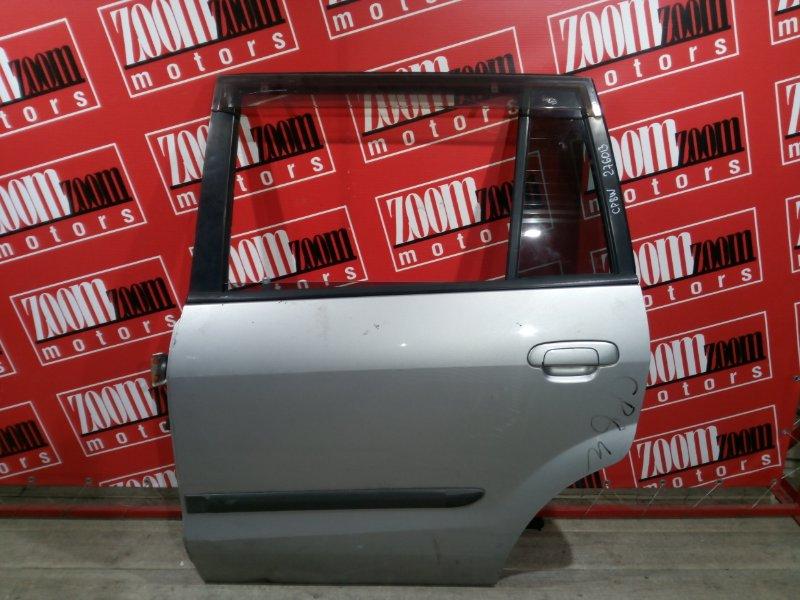 Дверь боковая Mazda Premacy CP8W FP-DE 1998 задняя левая серебро
