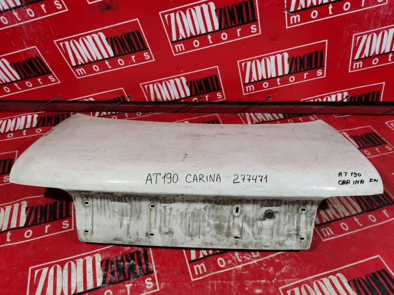 Крышка багажника Toyota Carina AT190 4A-FE 1992 задняя белый