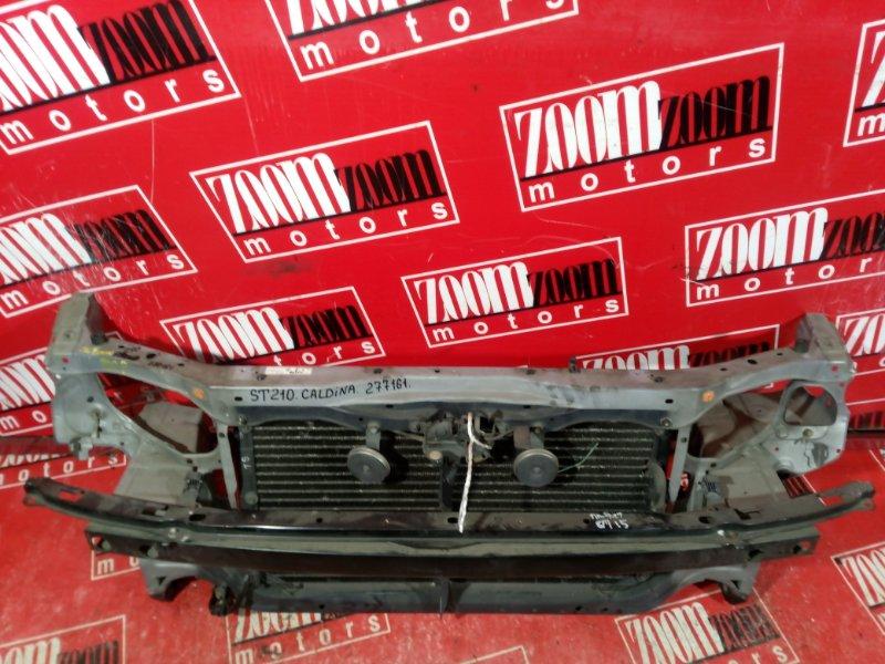 Рамка радиатора Toyota Caldina ST210 3S-FE 1996 передняя серебро